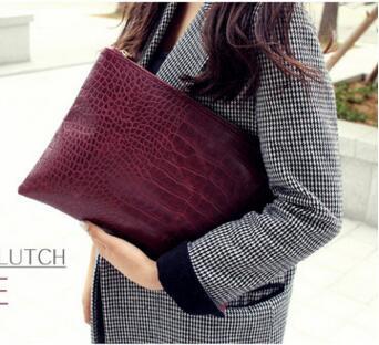 2017 new atmosphere on the grade crocodile pattern  evening bag Korean ladies hand bag