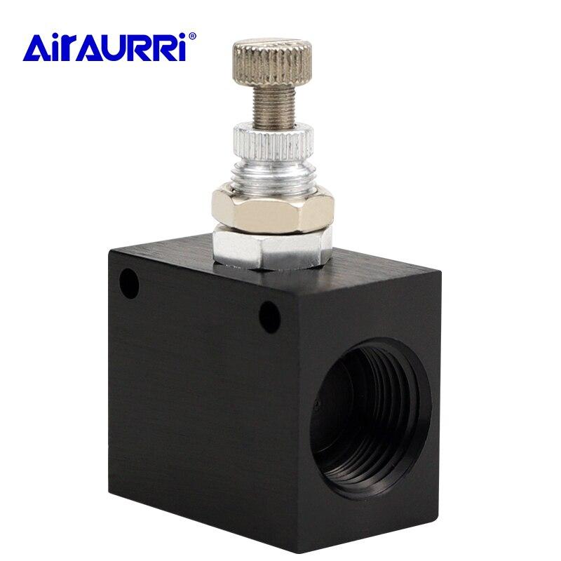 """Válvula de Control ASC-06 neumática/08/10/15 válvula de solenoide de flujo de control de velocidad 1/8 1/4"""" 3/8 """"1/2"""" agujero de tubería"""