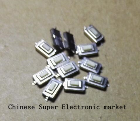 100PCS 3*3*6 6*2.5 milímetros * 2.5 milímetros 3*6*2.5H branco SMD interruptor de chave interruptor de Botão Interruptor Tato
