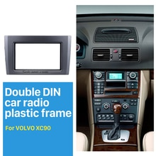 Seicane-Fascia adaptateur de montage Audio   Autoradio Double Din, pour Volvo XC90, panneau de DVD, garniture du tableau de bord, Installation de lautoradio stéréo