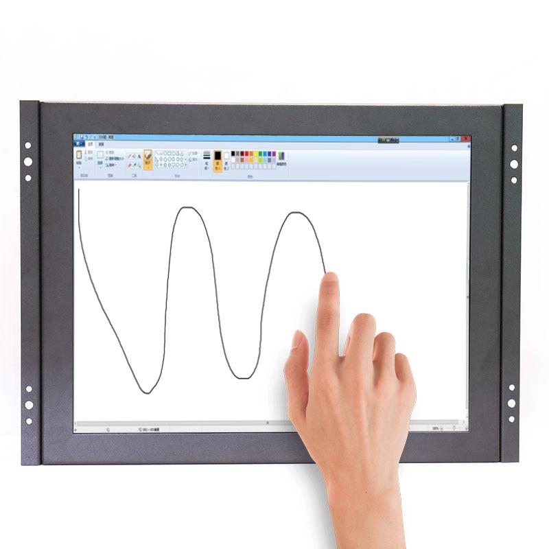 Open frame resistive touch monitor 12 inch HDMI monitor BNC monitor VGA monitor