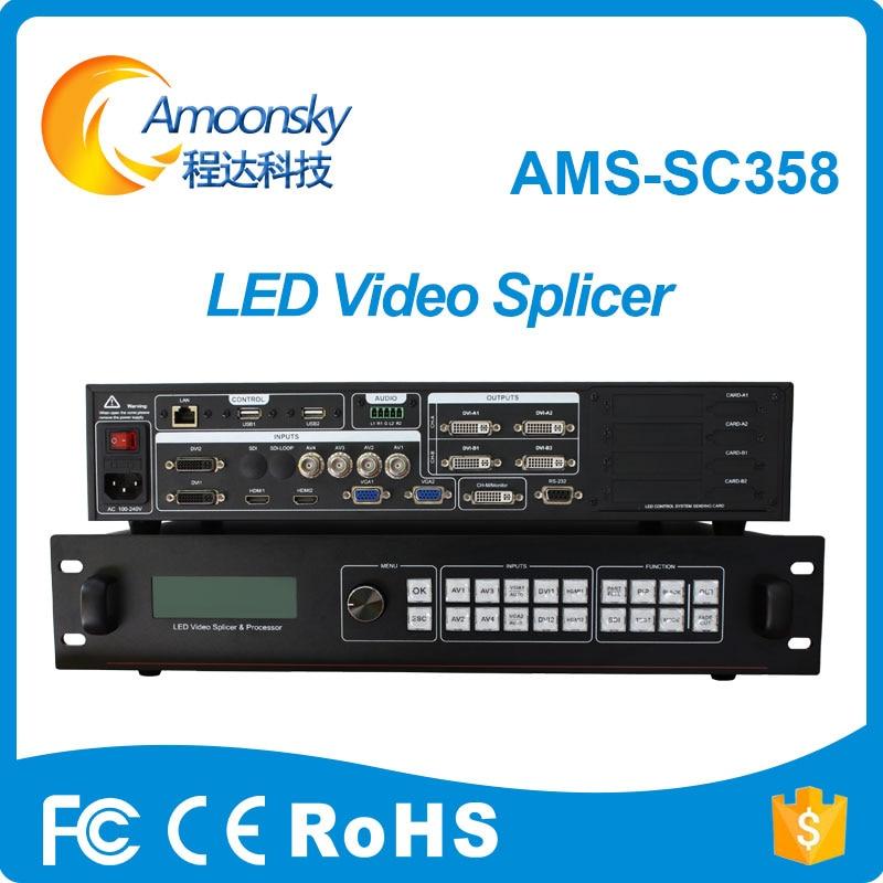 Publicidad al aire libre pantalla led uso procesador 4k sc358 empalmador led video pared hdmi procesador de vídeo