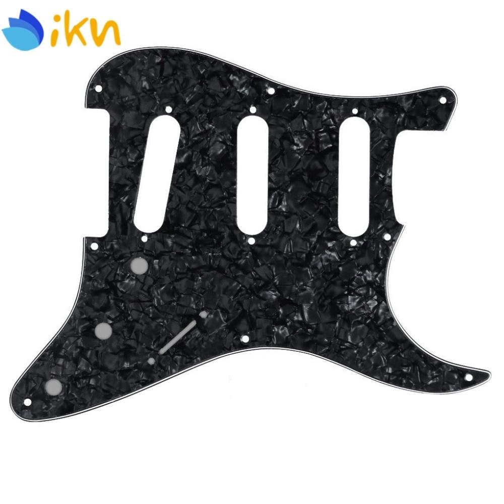 Nuevo Vintage 8 agujeros SSS guitarra rasguño golpeador de placas negro perla celuloide para Strat guitarra eléctrica