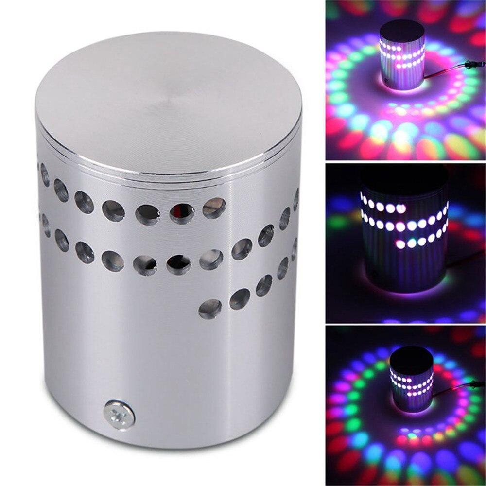 HIINST волшебный фестиваль цветной RGB настенный светильник с отверстиями по спирали