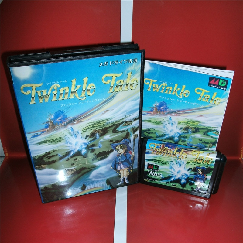 Funda con caja y manual para Sega Megadrive Genesis, consola de videojuegos, tarjeta MD de 16 bits, Twinkle Tale - Japan