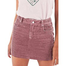 Summer Skirts Womens Women Summer Sexy Slim Corduroy Short High Waist Bodycon Mini Skirt mini faldas mujer moda 2019