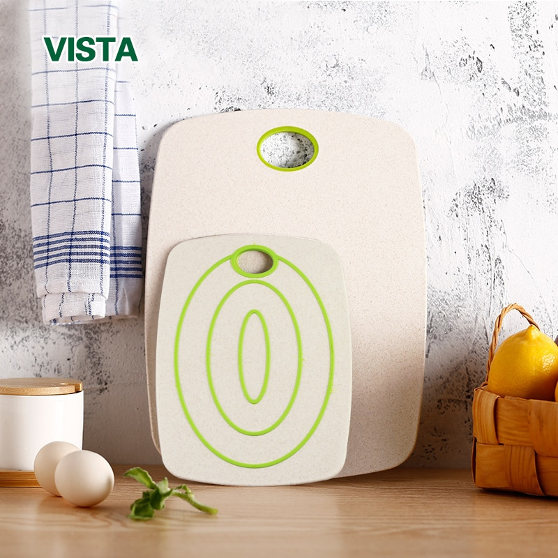 Myvit разделочная доска Non-Slip2pcs Экологически чистая Пшеничная солома разделочная доска Кухня Фрукты Еда овощная доска кухонные аксессуары