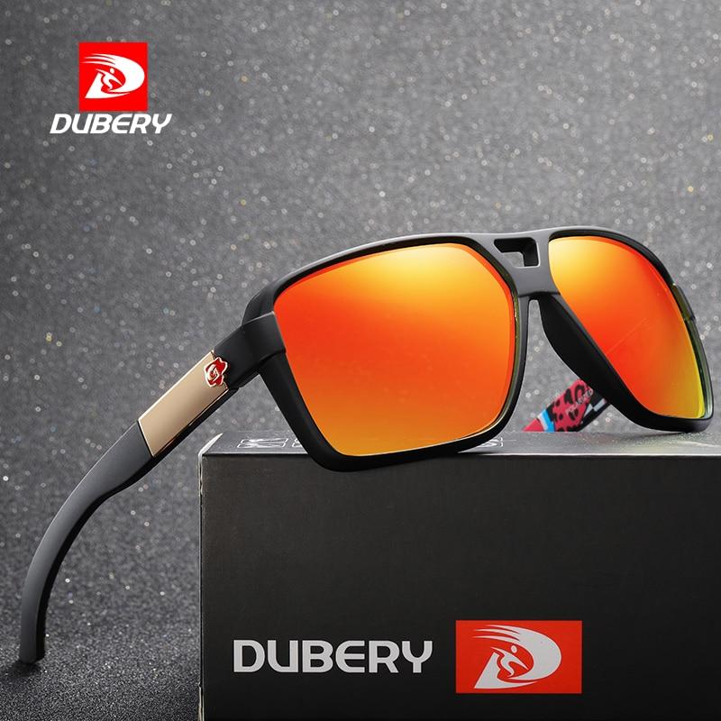 DUBERY 2019 Polarized Sunglasses Men's Aviation Driving Shades Male Sun Glasses For Men Retro Brand
