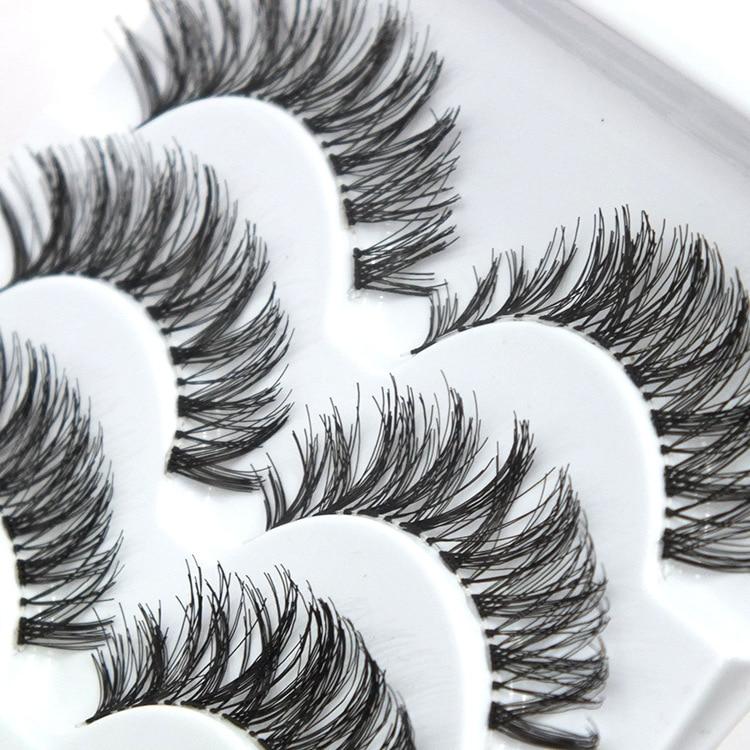 2019 New 5 Pairs Fashion Thick Natural False Eyelashes Volume Cross Messy Lashes Extensions Fake Eyelashes Makeup Tools недорого
