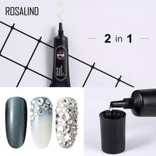 ROSALIND 2 en 1 couche de finition Rhinesotne Gel à ongles forte colle adhésive pour ongles strass décorations Semi Permanent Gel vernis UV