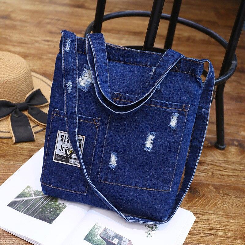 Сумка через плечо женская, из джинсовой ткани