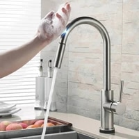 touch control kitchen faucets stainless steel smart sensor 2 ways kitchen mixer faucet kitchen pull down sink tap faucet