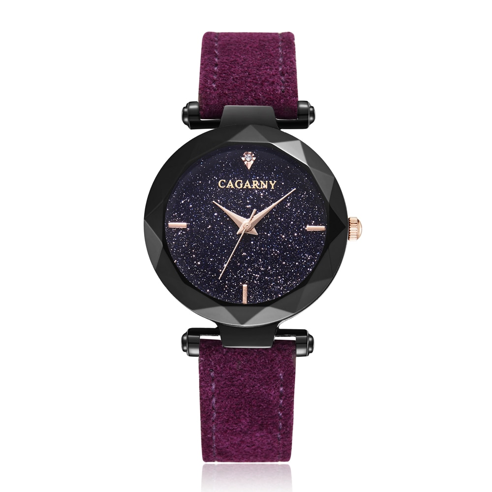 Starry Sky Women Watches Fashion Quartz Wrist Watch Female Vogue Leather Strap Crystal Ladies Wristwatches Casual Reloj Mujer enlarge