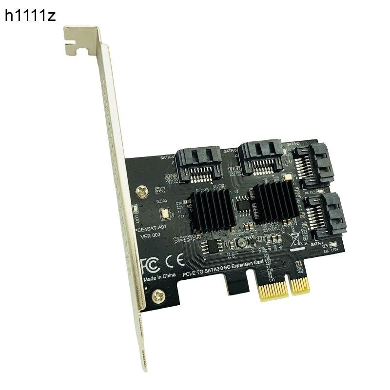 H1111Z Add On Cards PCIE to SATA Card/HUB/Controller SATA3 PCI-E/PCIE SATA 3 PCI Express SATA 4Port Multiplier Expansion Adapter