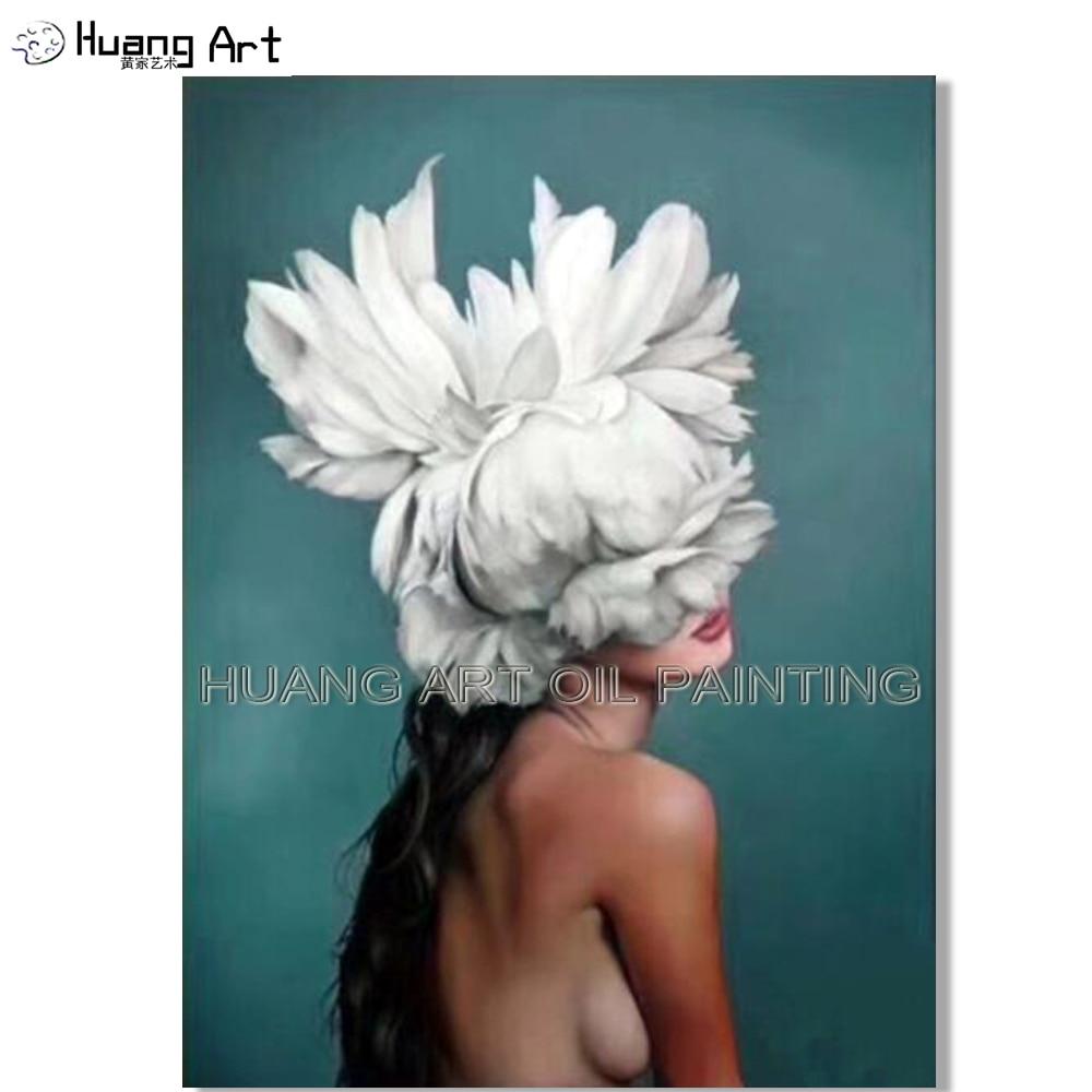 Художественная ручная работа, высокое качество, импрессионист, креативный портрет, картина маслом на холсте, красивая женская голова с белы...