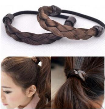 2 estilos (recto/flores de cáñamo) peluca trenzada banda de pelo Multi Colore Bohemian alta resistencia cuidado del cabello y herramientas de estilismo HA024
