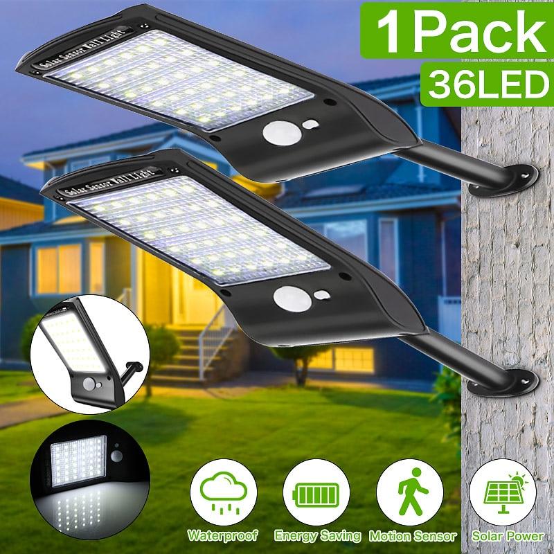 Panel Solar luz de Calle 36 lámpara LED PIR Sensor de movimiento para pasarela de jardín al aire libre DAG-ship