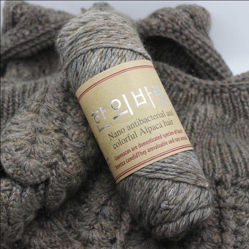 100g/lot 140 Meters High Quality Alpaca Wool Thick Yarns Knitting Natural Mink Cashmere Yarn Merino Woolen Crochet Hand Knit