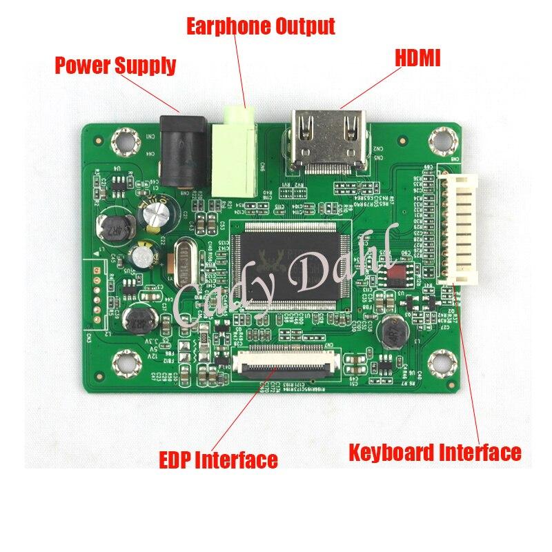 "Módulo de controlador LCD HDMI para 14 ""B140HTN01.4 LP140WF1 SPB1 SPU1 1920x1080 EDP 2 carriles 30 pines panel de pantalla LCD"