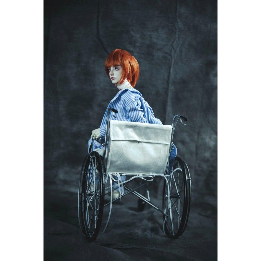 "¡Envío GRATUITO! Minisilla de ruedas BJD para Hospital, accesorio para 1/3 24 ""60cm 1/4 BJD SD SD13 MSD DD DOD DK DZ Volks Doll"