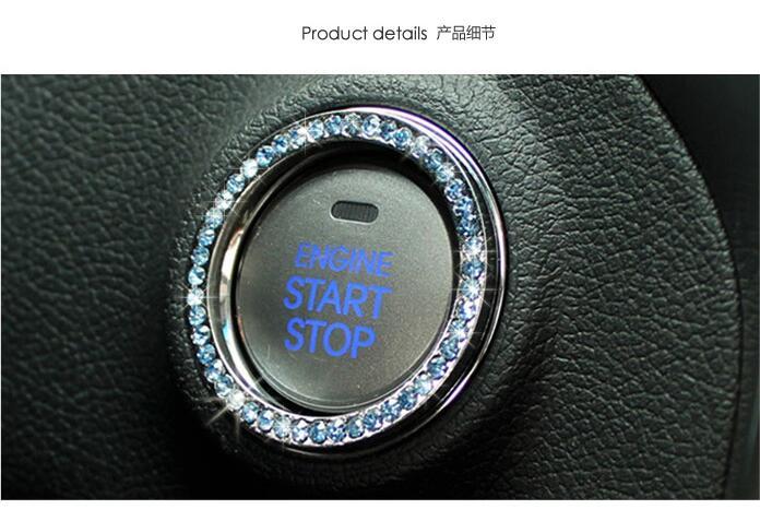 Decoración de interruptor de encendido de coche pegatinas para Mercedes. Benz W203 W204 W205 W211 Cadillac ATS SRX CTS para Lexus RX300 Accesorios