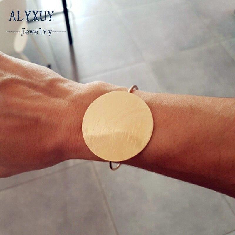 Nuevos accesorios de moda joyería de moda gran brazalete de mujer redondo regalo B3465