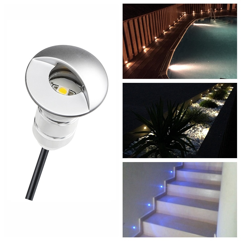 **DHL free**50pcs/Set Stylish LED Garden Lighting Step Light with Half-moon Cover Small LED Wall Lamp IP65 Outdoor
