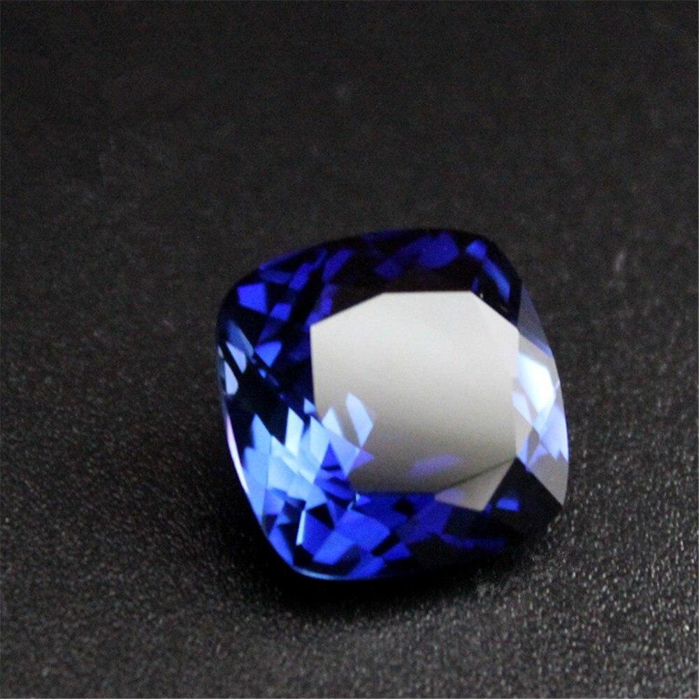 Joanlyn zafiro de alta calidad cuadrado facetado piedra preciosa cojín corte zafiro gema múltiples tamaños para elegir C77S