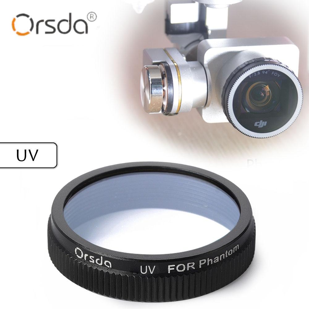 Orsda UV UAV Filter for DJI phantom 4 phantom 3 for Gimbal Camera Ultraviolet Filter UAV Quadcopter drone parts accessories