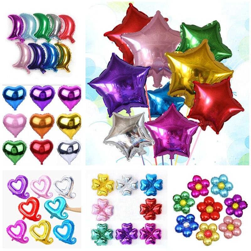 18 polegada estrela balões amor coração natal hélio casamento grande folha de alumínio bola ar inflável presente festa aniversário decoração