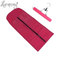 1 bag + 1 hanger black zipper hanger hair extension packaging suit case bag for weft hair extensions clipin hair ponytail