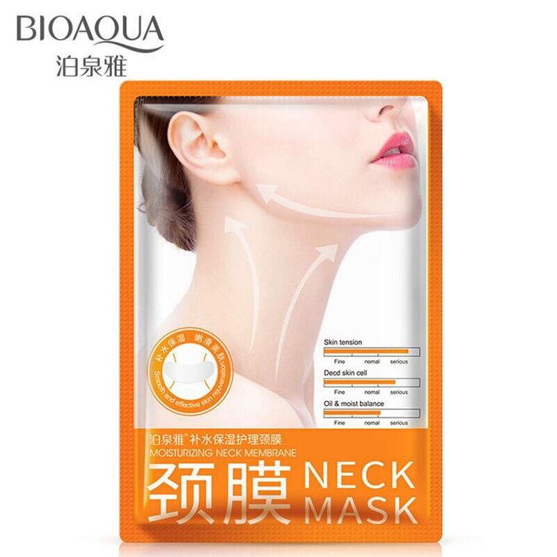 BIOAQUA, máscara antiedad para el cuello, antiarrugas, cuidado de la piel, blanqueamiento nutritivo, mejor crema para el cuello, estiramiento del cuello, reafirmante de cuello
