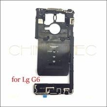 ل LG G6 الإطار الأوسط الحافة الإسكان مع NFC + الجرس قارع الأجراس المتكلم الأصلي استبدال زجاج عدسة الكاميرا