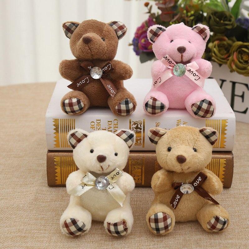 9CM Popobe miś śliczne pluszowe torba na zabawki brelok uchwyt na kluczyk samochodowy do wisząca laleczka dzieci zabawki wypchane zwierzęta puszyste niedźwiedzie B0903