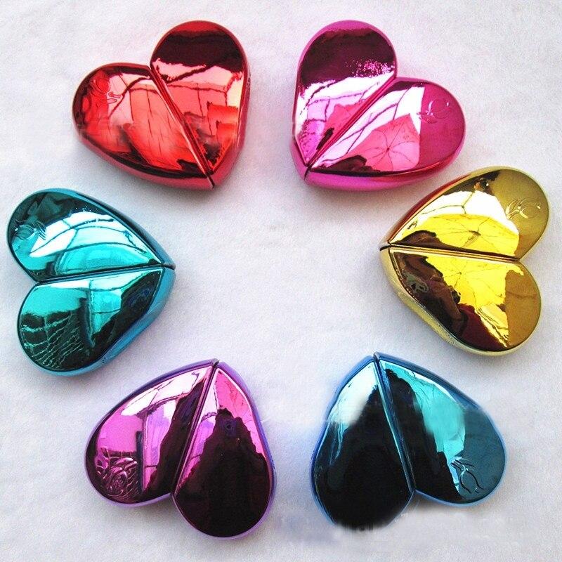 1PC 25ml w kształcie serca w kształcie serca butelki perfum z Spray wielokrotnego napełniania pusty rozpylacz do perfum dla kobiet 5 kolory moda pojemnik kosmetyczny