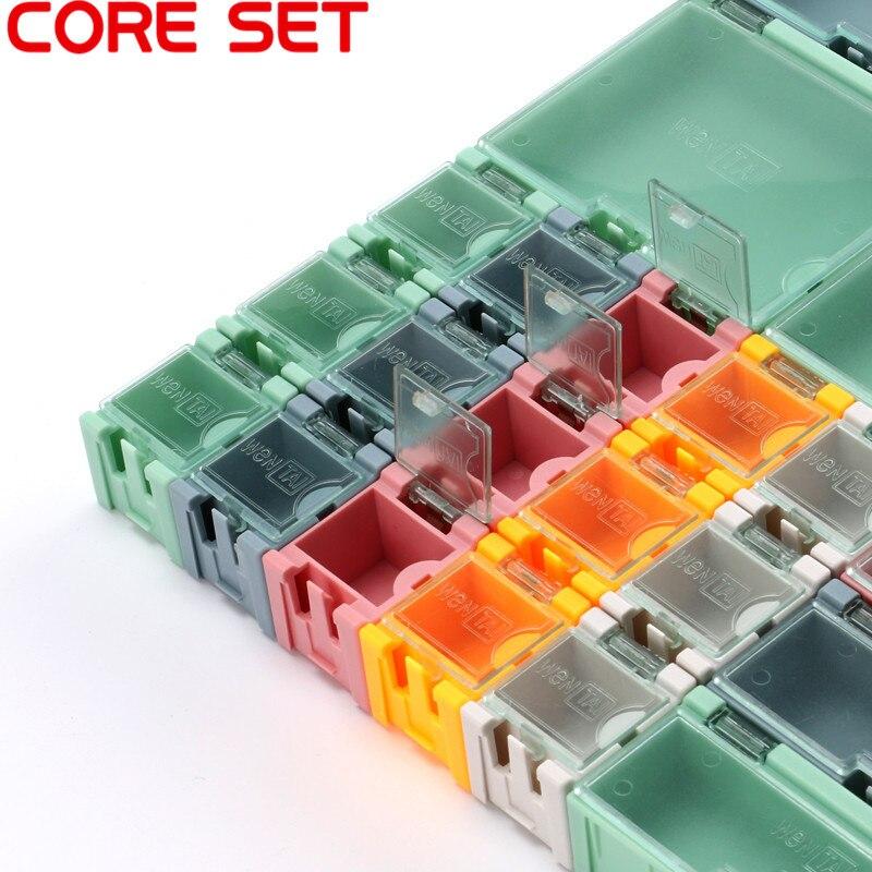 Mini caja de almacenamiento SMD SMT componentes electrónico IC caja portaenvases Diy práctico para pequeño componente caja de herramientas de joyería cuenta píldora