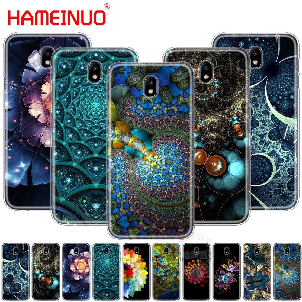 HAMEINUO de Fractal de la cubierta de la caja del teléfono para Samsung Galaxy J3 J5 J7 2017 J527 J727 J327 J330 J530 J730 PRO