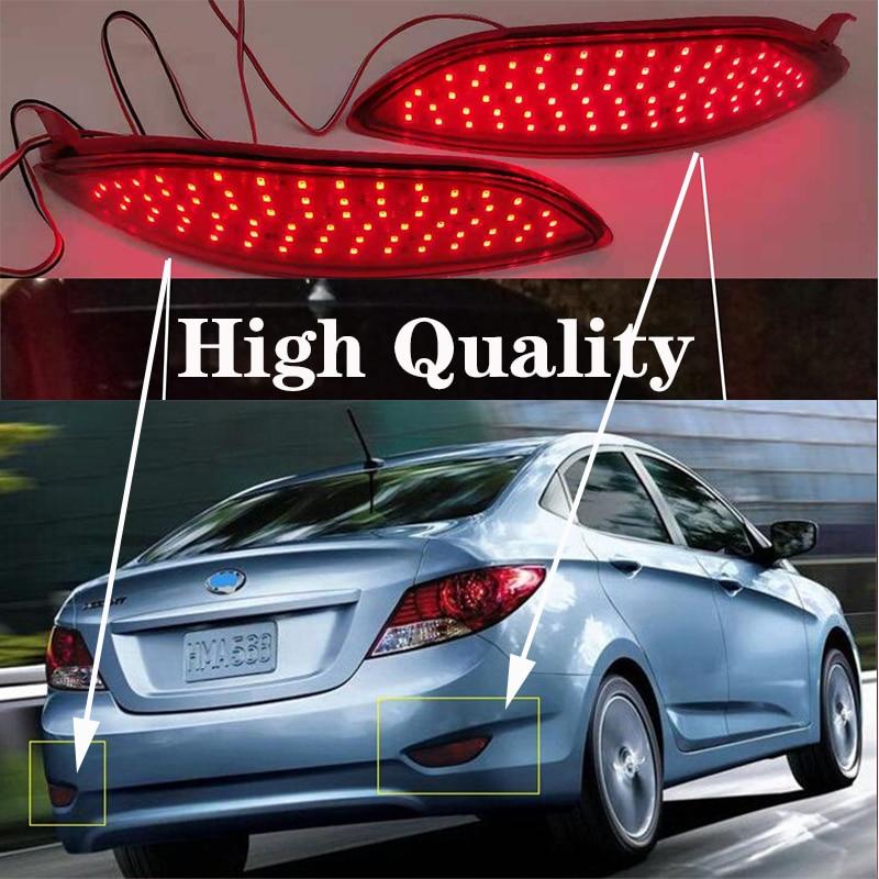 Стоп-фонарь для заднего бампера, красный светодиодный задний фонарь для Hyundai Accent Verna Brio Solaris 2008-2015