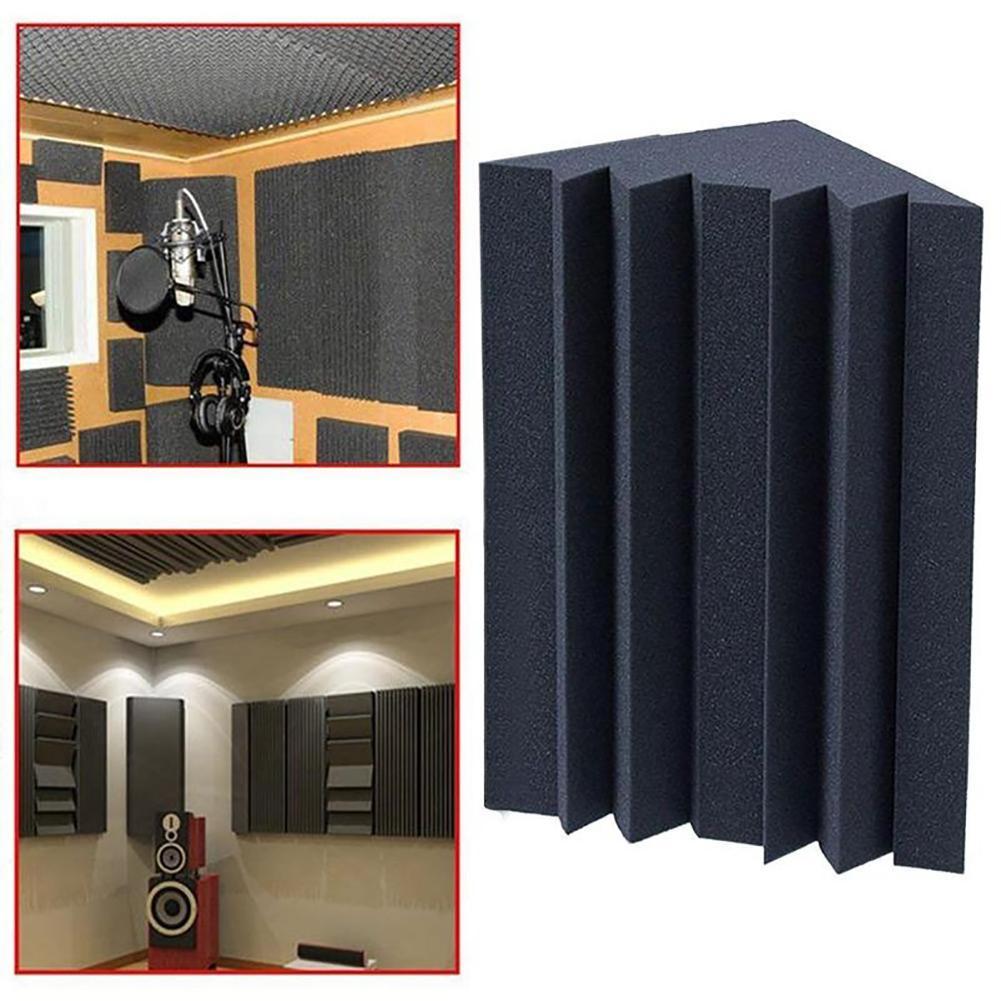 Espuma de insonorización, trampa acústica para bajos, amortiguadores de esquina para sala de reunión, estudio, trampa acústica para bajos, espuma acústica
