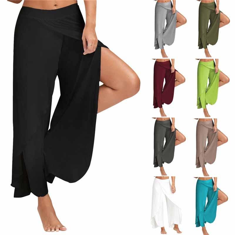 Женские шифоновые расклешенные брюки Palazzo Boho, свободные брюки свободного покроя с широкими штанинами, лето 2019
