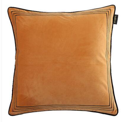 Terciopelo modelo de bordado habitación funda de cojín de sofá Oficina funda de almohada
