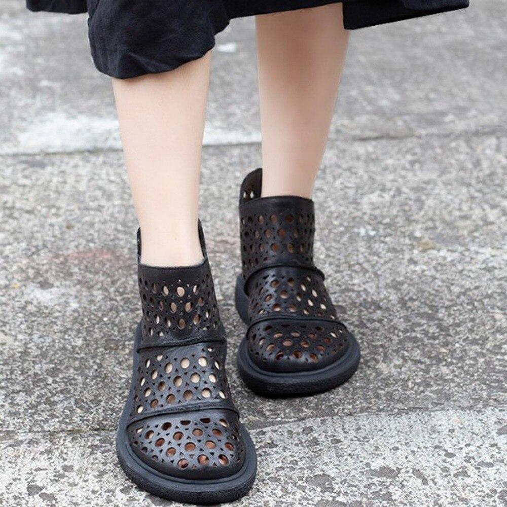 Женские ботинки на молнии, черные, верблюжья кожа, из натуральной коровьей кожи, на каблуке средней высоты, стильные летние ботинки на резин...