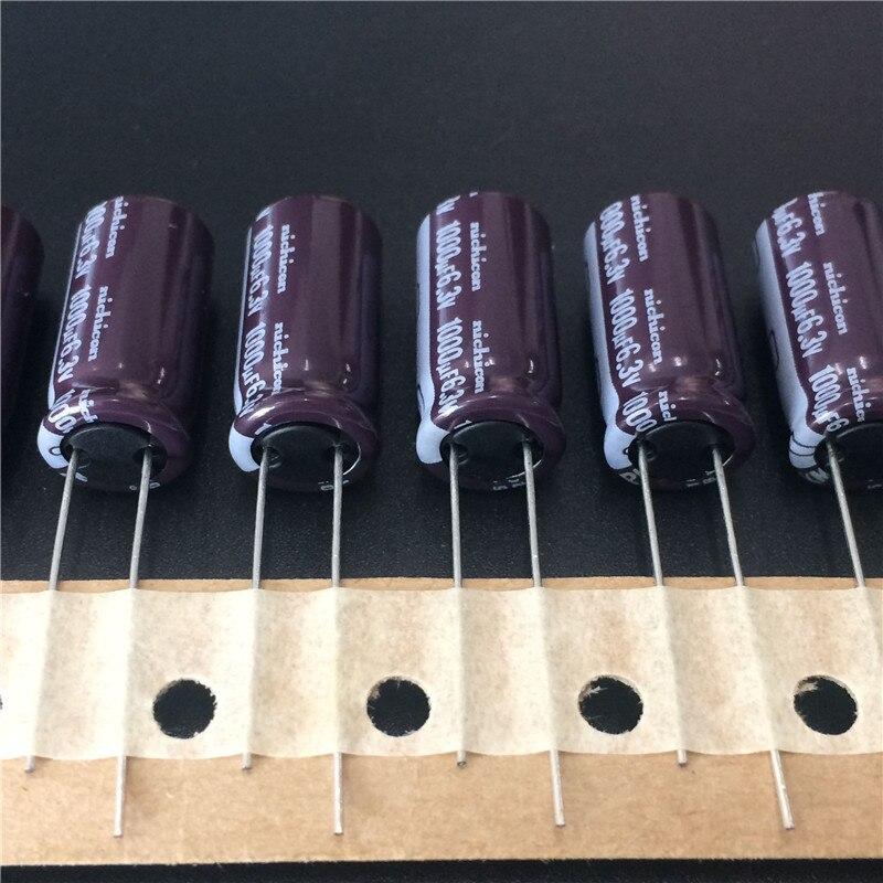 10 Uds 1000uF 6,3 V NICHICON PM Series 10x20mm 6.3V1000uF superbajo impedancia larga vida condensador electrolítico de aluminio
