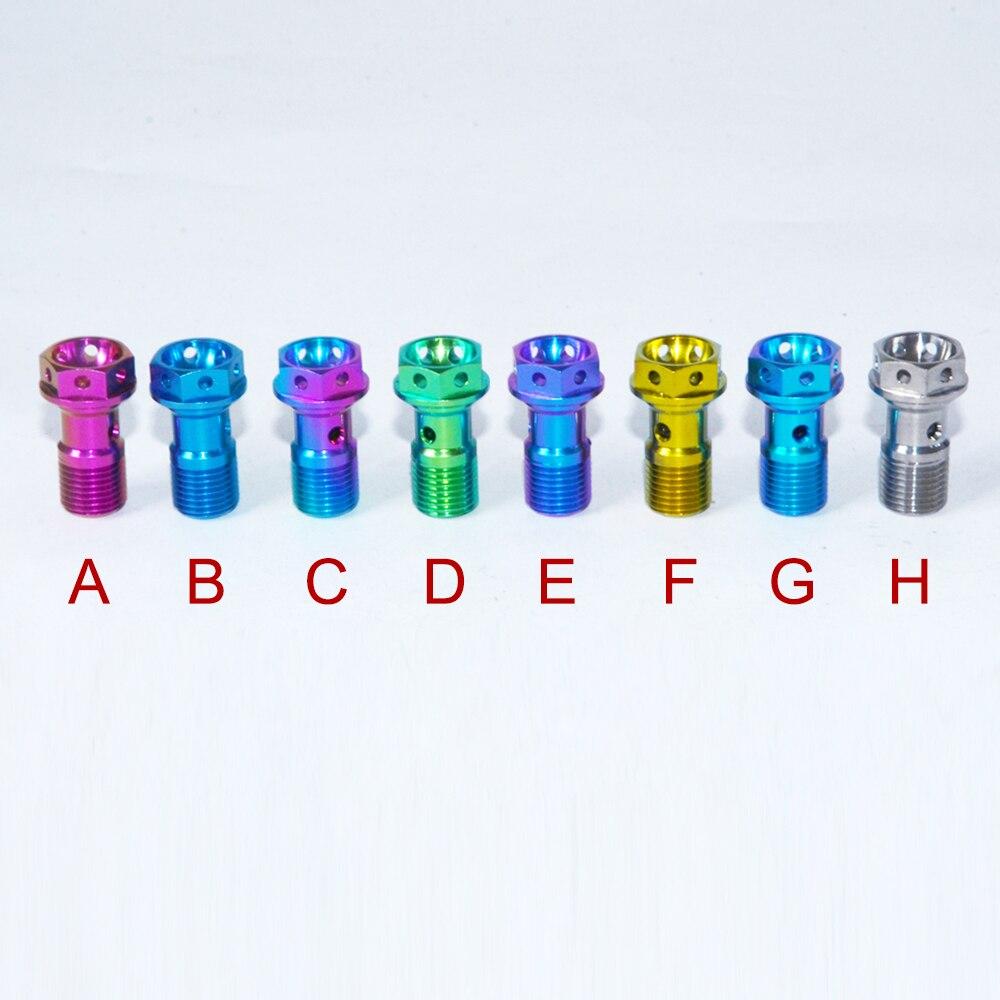 Pinza de Motocicleta M10 X 1,0, tubo de brida hexagonal, Tornillos de...