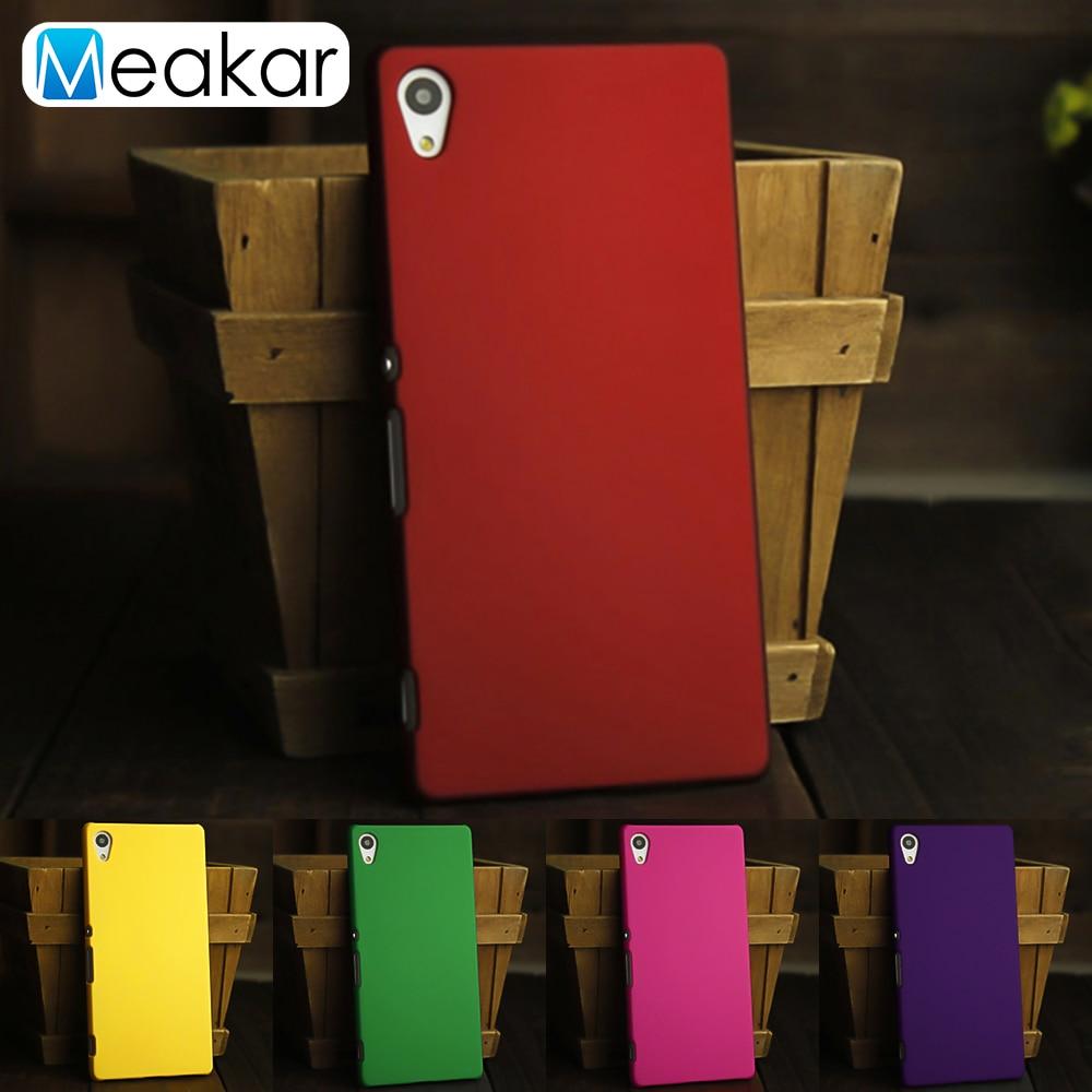 Matowy plastik Coque pokrywa 5.2For Sony Xperia Z4 etui do Sony Xperia Z4 Z3 Plus podwójny E6533 E6553 telefon z powrotem coque pokrywy skrzynka