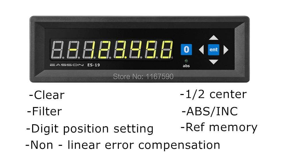 Easson الرقمية قراءات ES-19 واحدة محور عرض واحد محور قراءات رقمية dro مقياس خطي