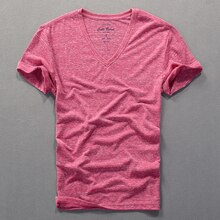 2018 Summer new mens short-sleeved T-shirt V-neck cotton solid thin t shirt men brand fashion tshirt mens chemise camisa