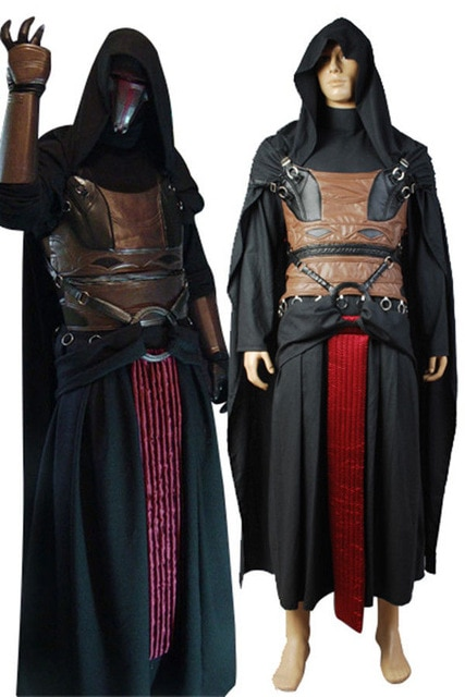 Star Darth Revan Cosplay Costume Full Set Outfit Cape Custom Made Halloween
