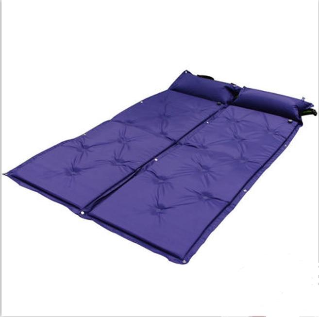 Outdoor Automatic Inflatable Picnic Camping Mat Air Bed Matress Portable Sleeping Pad with Pillow camping matras Self-inflating