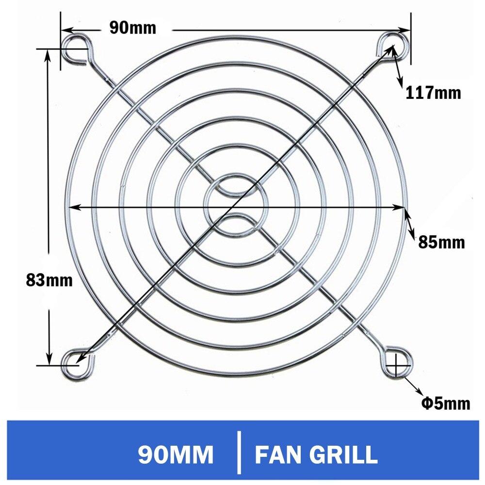 3pcs Gdstime 90mm 9cm CPU Computer PC Latop Fan Grills Iron Cover Case Metal Finger Guard For 9025 9225